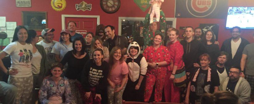 Adult pajamas party